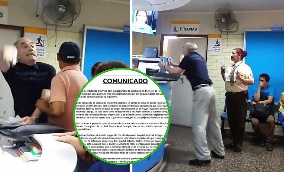EsSalud se pronuncia sobre abuelito que perdió el control en uno de sus hospitales