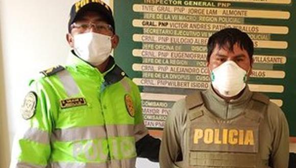Cusco. Marco apaza es investigado en la comisaría de Izcuchaca. (PNP)