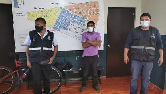 El intervenido quedó a disposición de la comisaría de La Perla como presunto autor del delito de hurto. (Municipalidad del Callao)