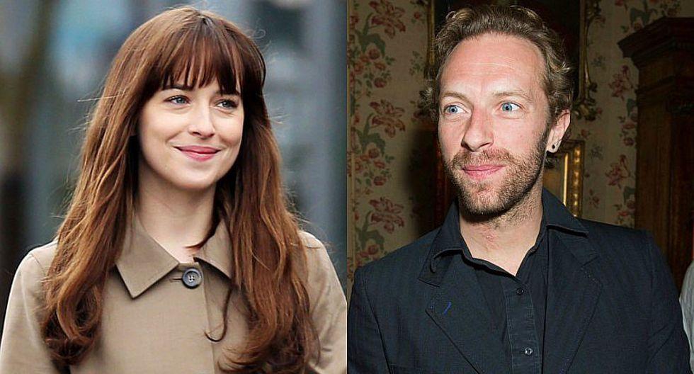 Dakota Johnson y Chris Martin fueron captados en cena romántica
