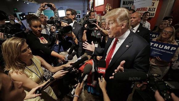 Donald Trump anula lista negra de medios que no podían cubrir sus mítines