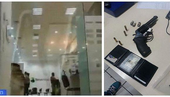 Dos heridos deja asalto de banco en Chorrillos por tres delincuentes (FOTOS)