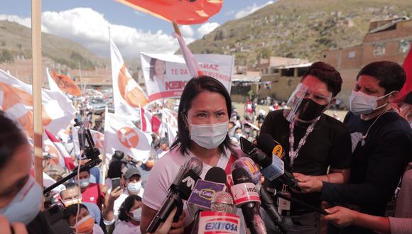 Keiko Fujimori rechazó agresiones de parte de simpatizantes de Perú Libre. (Foto: Leandro Britto / @photo.gec)