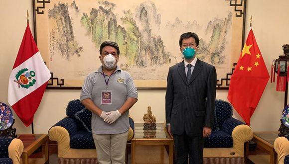 Andrés Hurtado tuvo encuentro con embajador de China  (Foto: Instagram)