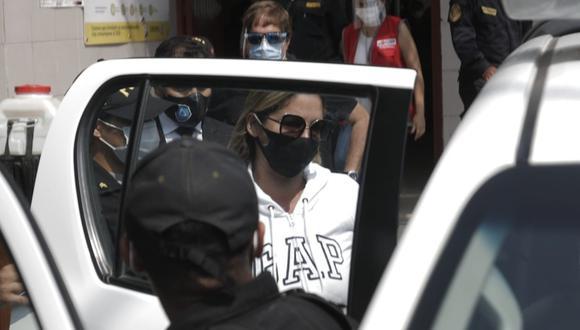 Sofía Franco se encuentra en su vivienda tras salir en libertad. (Foto: GEC)