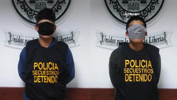 Los adolescentes fueron capturados en flagrancia por la policía. (PNP)