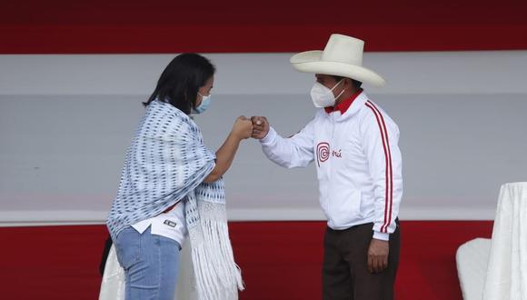 Este sábado 1 de mayo se llevó a cabo el debate presidencial entre los candidatos Keiko Fujimori (Fuerza Popular) y Pedro Castillo (Perú Libre) en la ciudad de Chota, región Cajamarca. (Foto: Hugo Pérez / @photo.gec)