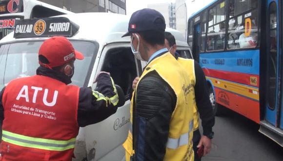 Ambos conductores intervenidos intentaron evadir la labor de las autoridades. (Foto: Difusión)