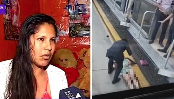 Mujer que cayó a vía del Metropolitano rompió su silencio (VIDEO)