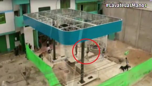 Tres delincuentes fueron capturados luego que la Policía frustró robo a grifo en Los Olivos. (Captura: Canal N)