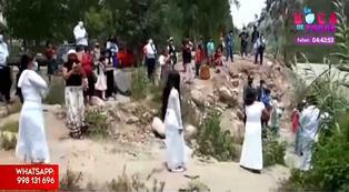 Covid-19 en Perú: 200 personas iban a participar de bautizo evangélico en río en Chosica | VIDEO