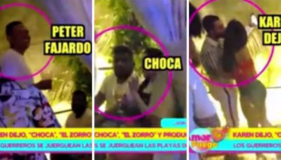 Karen Dejo, 'Choca' Mandros y Peter Fajardo la pasan muy bien en discoteca del sur chico. (Foto: Captura Willax).