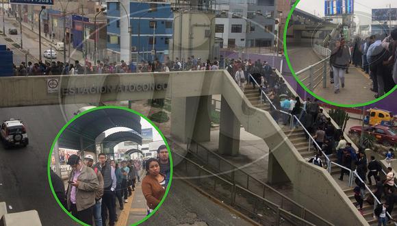 Metro de Lima explica por qué hubo demoras en la Línea 1 (FOTOS)