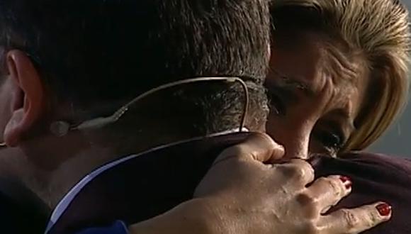 Milena Zárate lloró en los brazos de Beto Ortiz [VIDEO]
