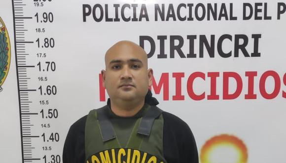 Christian Eduardo García Carrión (32), alías 'Cachete', sindicado como uno de los presuntos autores del asesinato a balazos del tesorero del Colegio de Químico Farmacéutico de Lima, José Luis Villanueva Silverio (64). (Foto: PNP)