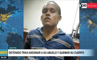 Iquitos: sujeto asesina a su abuelo porque no quiso darle dinero para comprar drogas