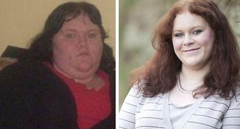 Adolescente logra bajar 63 kilos en un año