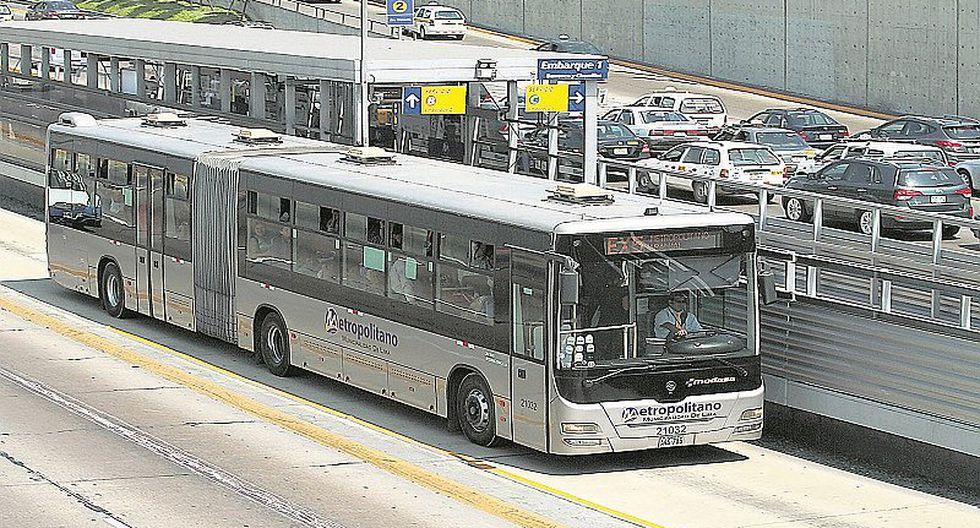 Se reajustarán las rutas de los buses del Metropolitano