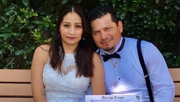 La peruana Sara Alacote y su esposo, el salvadoreño Ismael Quintanilla, en una foto de su álbum familiar.