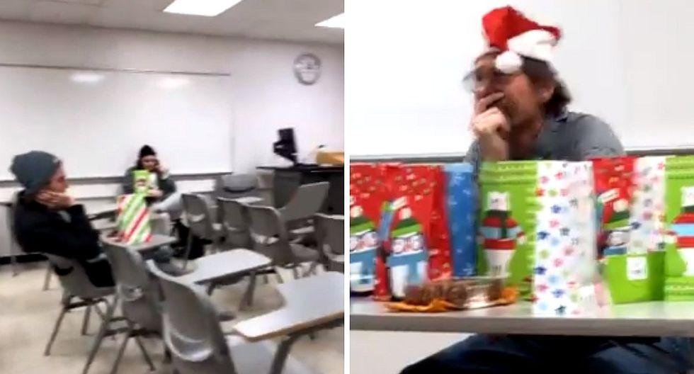 Profesor les organiza fiesta por Navidad a sus alumnos, pero es cancelado (VIDEO)