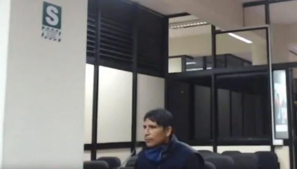 Nilder Garrote cuando escuchó la decisión de la jueza. (Poder Judicial)