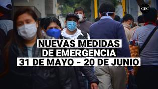 Estas son las nuevas medidas de restricción que se tomarán del 31 de mayo al 20 de junio