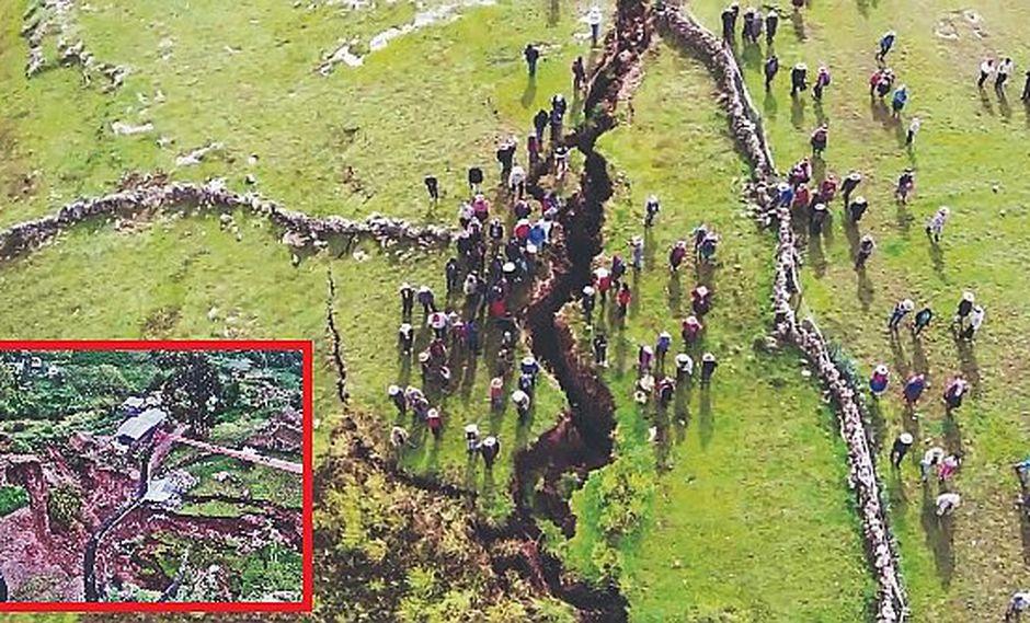 Tierra se abre en Cusco y destruye casas, colegios y hasta postas médicas