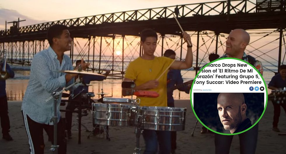 """Gianmarco y Grupo 5 en Billboard por lanzamiento de nueva edición de """"El Ritmo de mi Corazón"""""""