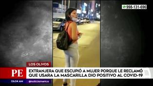 Mujer que escupió a pasajera porque le pidió que se ponga mascarilla, dio positivo a COVID-19