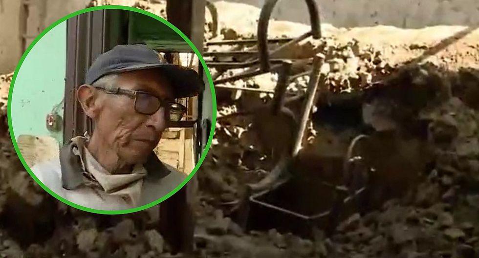 Anciano va a la cocina por hambre y se salva de morir cuando se cayó el techo de su casa (VIDEO)