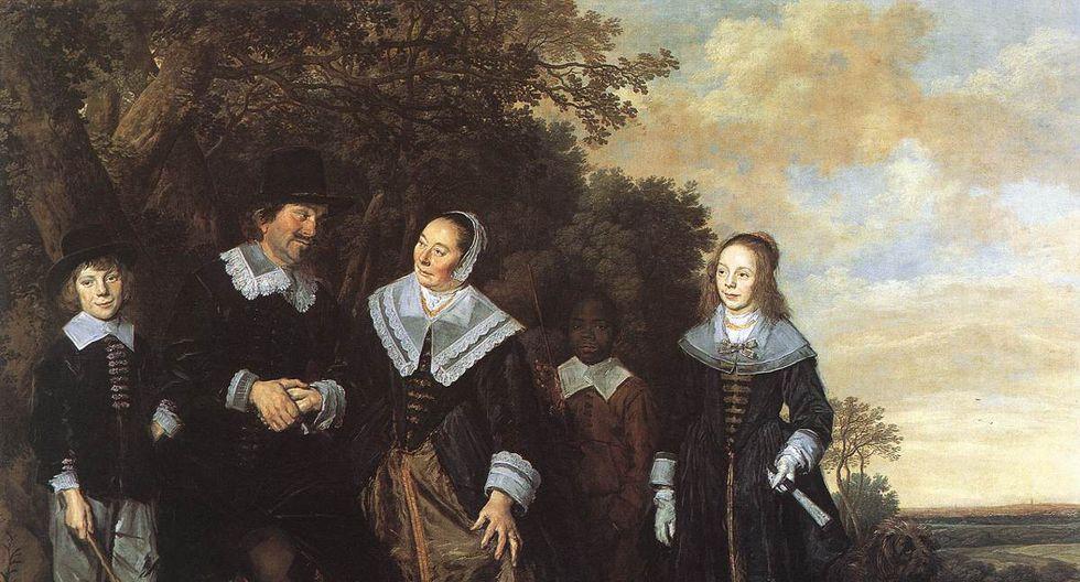 Familia en un paisaje, cuadro de Frans Hals, 1648.