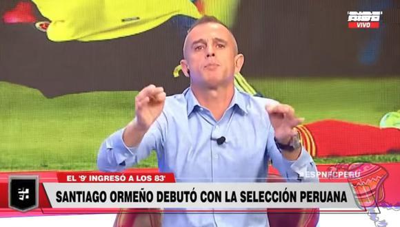 Julinho criticó duramente a Gianluca Lapadula tras el Perú vs. Colombia. (Captura: ESPN)