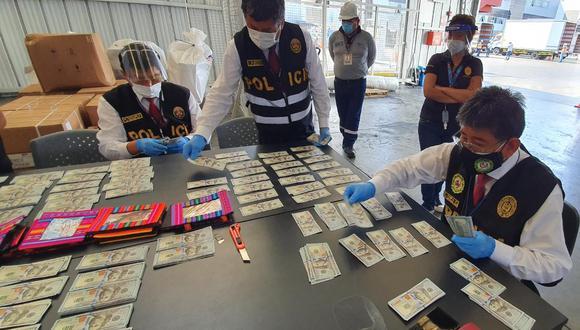 Policía incautó US$250 mil falsos que iban a ser enviados a EE.UU.(GEC)