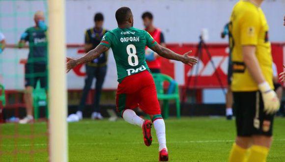 Jefferson Farfán le dio el empate a Lokomotiv tras haber ingresado pocos minutos antes. (Foto: Lokomotiv)