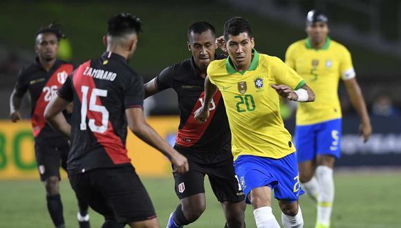 Roberto Firmino se refirió al partido entre Perú y Brasil en las Eliminatorias. (Foto: AFP)