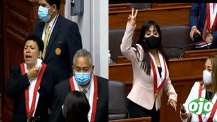 """Congresistas fujimoristas tras juramentación: """"¡terroristas nunca más! ¡no al comunismo! """""""