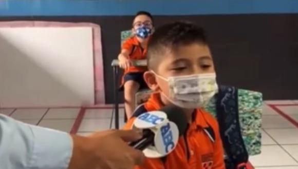 Niño mexicano aseguró que regresar al colegio lo hacía feliz. (Foto: Captura/Facebook)