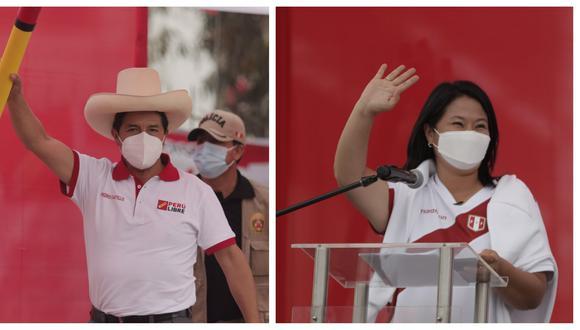 Candidatos presidenciales Pedro Castillo y Keiko Fujimori cierran este jueves sus campañas (Fotos: Grupo El Comercio)