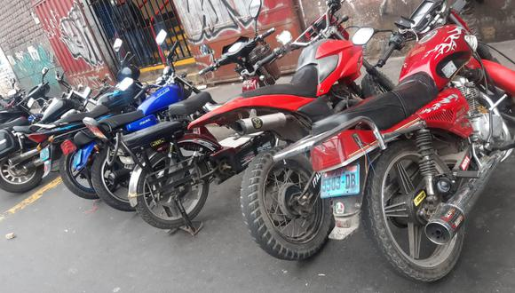 La serie de los chasis, motos fueron erradicadas. Les cambiaban las placas y las vendían a precios por debajo del mercado. (Foto: PNP)