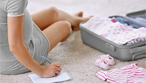 ¿Qué cosas se lleva en la maleta para el recién nacido?