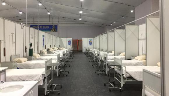 Arequipa: de un total de 535 camas, 232 están ocupadas por pacientes infectados en estado leve y moderado. (Foto: Difusión)