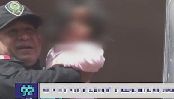 Sereno logra rescatar a bebé atrapada en su domicilio