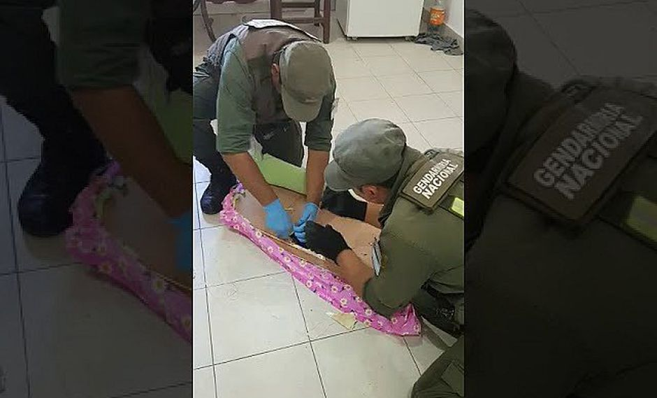 Oculta 5 kilos de cocaína en tabla de planchar y perro policía lo detecta