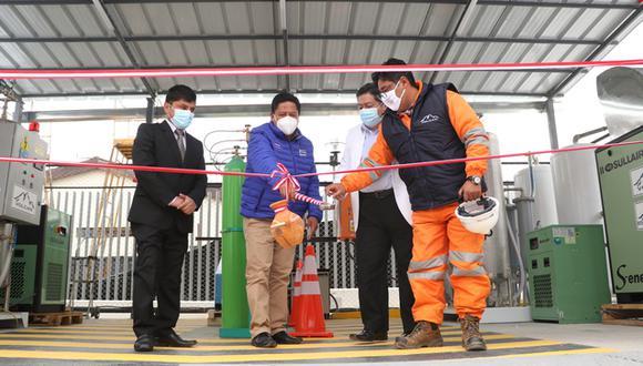 Pasco: las dos plantas de oxígeno fueron donadas por la empresa minera Volcan. (Foto: Gore Pasco)