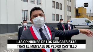 """Guillermo Bermejo está """"satisfecho"""" con mensaje de Castillo: """"coherente con lo dicho en campaña"""""""