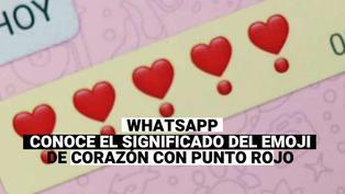 WhatsApp: ¿Sabes cuál es el significado del emoji del corazón con punto rojo?