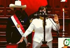 """Dina Boluarte juró como vicepresidenta de Pedro Castillo: """"Por los 'nadies'"""""""