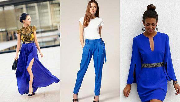 4 looks que harán que te enamores del azul eléctrico