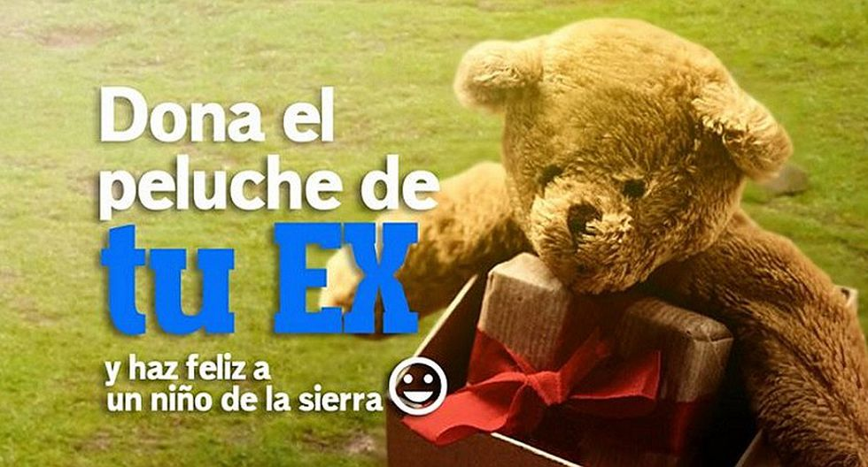 Facebook: lanzan campaña solidaria y piden que dones el peluche de tu ex (FOTOS)