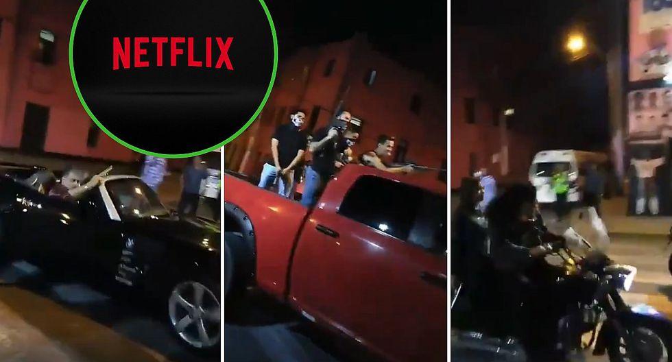 """Video de supuestos """"sicarios"""" en el Callao es para una serie de Netflix"""